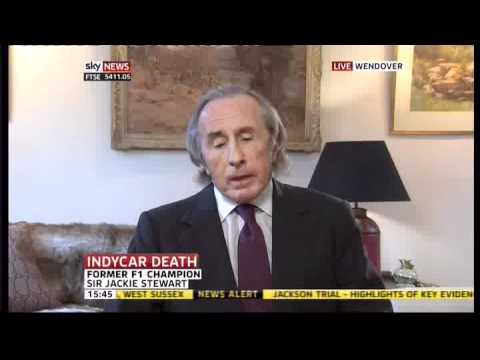 Jackie Stewart on the Dan Wheldon Crash