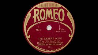 Broadway Broadcasters - The Desert Song (1929)