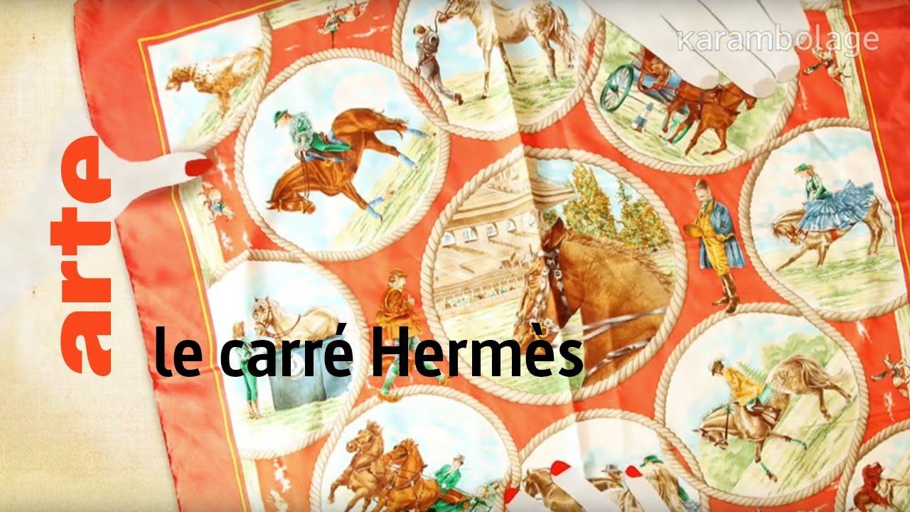 02f05dd2f9 le carré Hermès - Karambolage - ARTE - YouTube