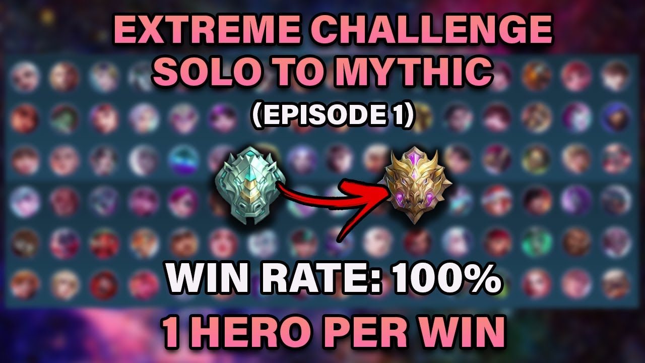 Solo To Mythic: One Hero Per Win - High WR (Episode 1) | Mobile Legends: Bang Bang