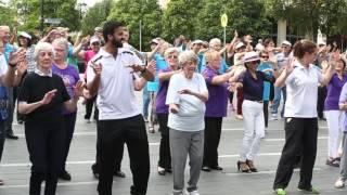 healthy older people partnership hopp program australia s oldest flash mob