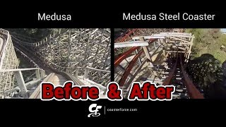 medusa medusa steel coaster before after the conversion
