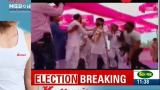 Congress leader Hardik Patel slapped, abused by a man during a public meeting