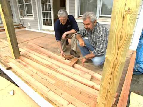 How to Install Redwood Deck - Vermont Farmhouse - Bob Vila eps 2305