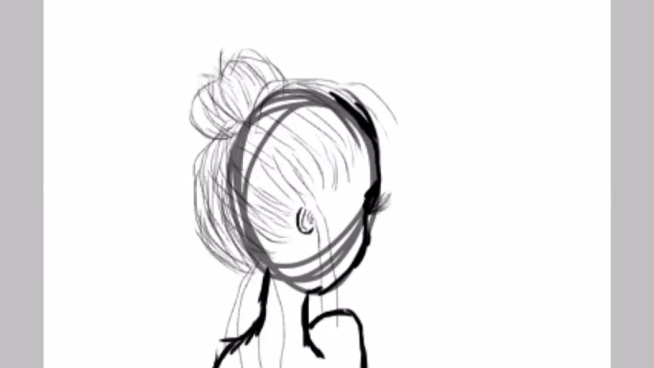 How To Draw And Color Bun Bow Hair  YouTube