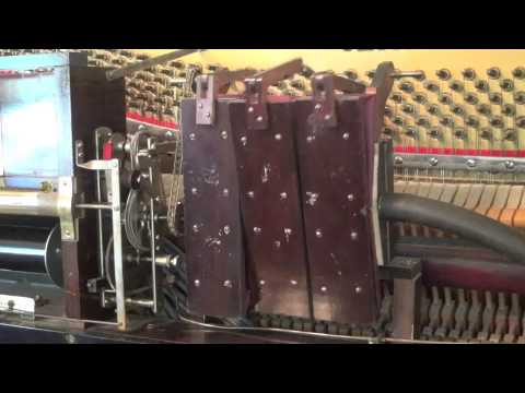 Pneumatic motor in player piano