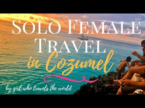 Solo Female Travel in Cozumel!