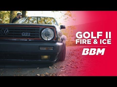 """MEEEHR LUFT"" G.A.S. Airride im VW Golf 2 Fire and Ice als Doppelpack by BBM"
