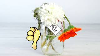 Esmigalhe o comprimido e jogue-o na água. Incrível o que ele faz com as flores!