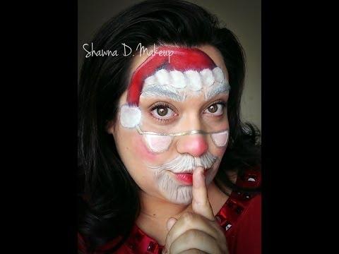 Santa Claus Face Painting Tutorial Youtube