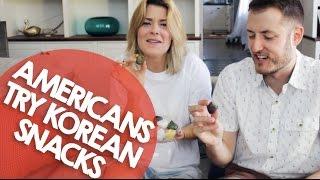 AMERICANS TRY KOREAN SNACKS // Grace Hel...