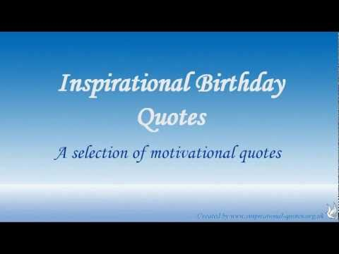inspirational birthday quotes