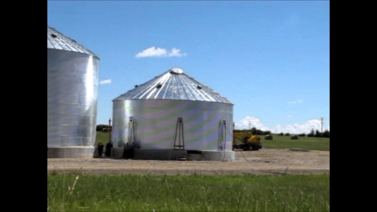 How To Build A Grain Bin Youtube
