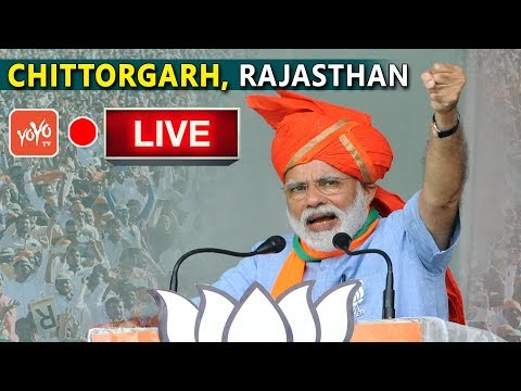 Modi LIVE   PM Modi Addresses Public Meeting at Chittorgarh, Rajasthan   YOYO TV Channel