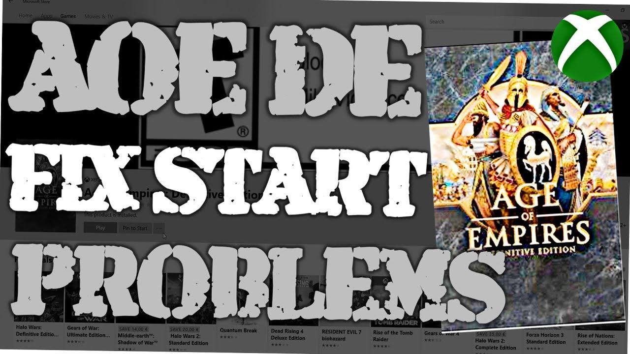 age of empires definitive edition windows 10 fix