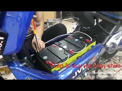 Hướng Dẫn Lắp Bình ắc Quy Xe Máy điện Xmen JVC F1