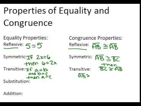 Algebraic properties of equality worksheet answers