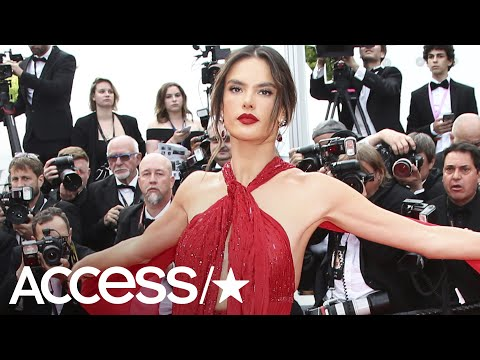 Alessandra Ambrosio Sets Pulses Racing In Daring Red Gown At Cannes | Access