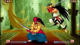 Samurai Shodown IV: Genjuro playthrough / lvl-8 【60fps】