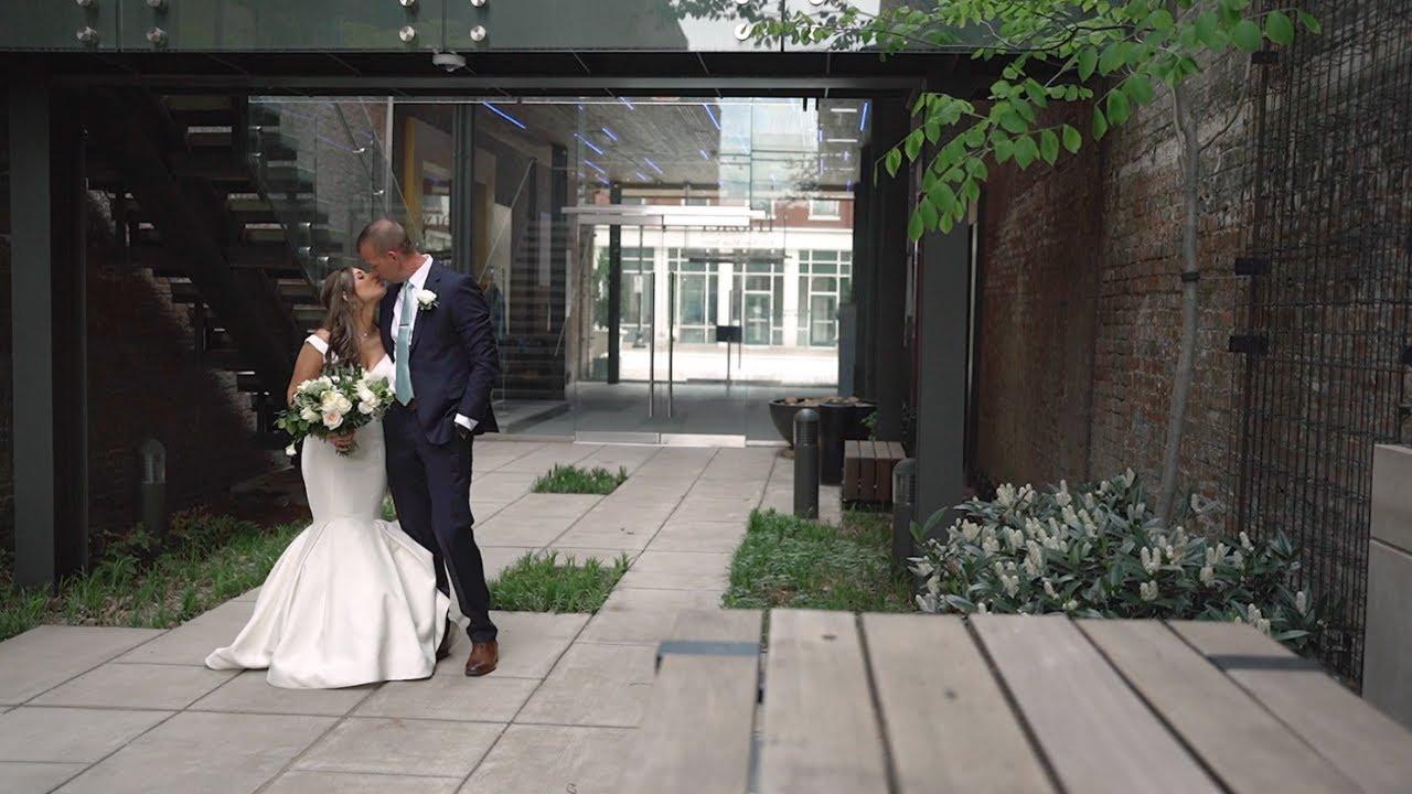 Beautiful Rooftop Wedding || Frazier Art Museum || Louisville Ky Wedding