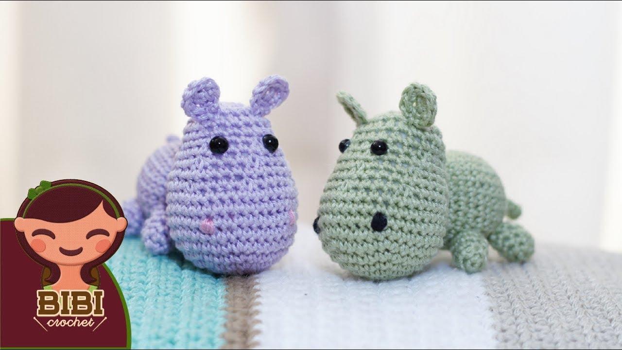 Amigurumi   Como hacer un Hipopotamo en Crochet   Bibi Crochet - YouTube