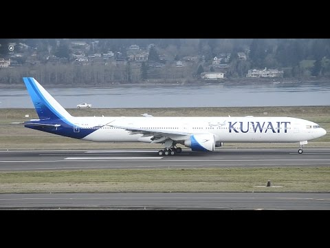 Rare!!! Kuwait Airways Boeing 777-300ER [9K-AOE] (New Livery) Takeoff From PDX