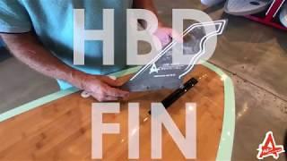 HBD Hybrid Fin- Fibre Glas Fin Co - Larry Allison Finologist