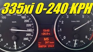BMW 335xi 400HP N54 Twin Turbo 0-240 km/h (0-150 MPH)