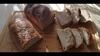 Хлеб ночного замеса Рецепт в описании под видео