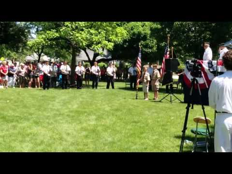 Memorial day service Yorkville, Illinois 2016, gun salute, and taps.