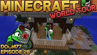 Minecraft vacation is over now! - The Minecraft World Tour - S4E028 | Docm77