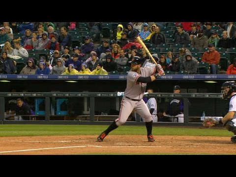 Belt homers to the third deck at Coors Field