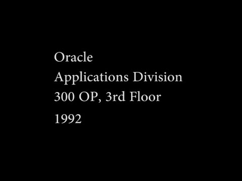 Oracle Corporation 1992 - Applications Division 300 OP, 3rd Floor