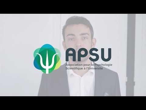 Présentation de l'APSU - Association pour la Psychologie Scientifique à l'Université