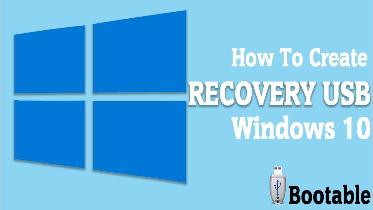 create recovery usb drive