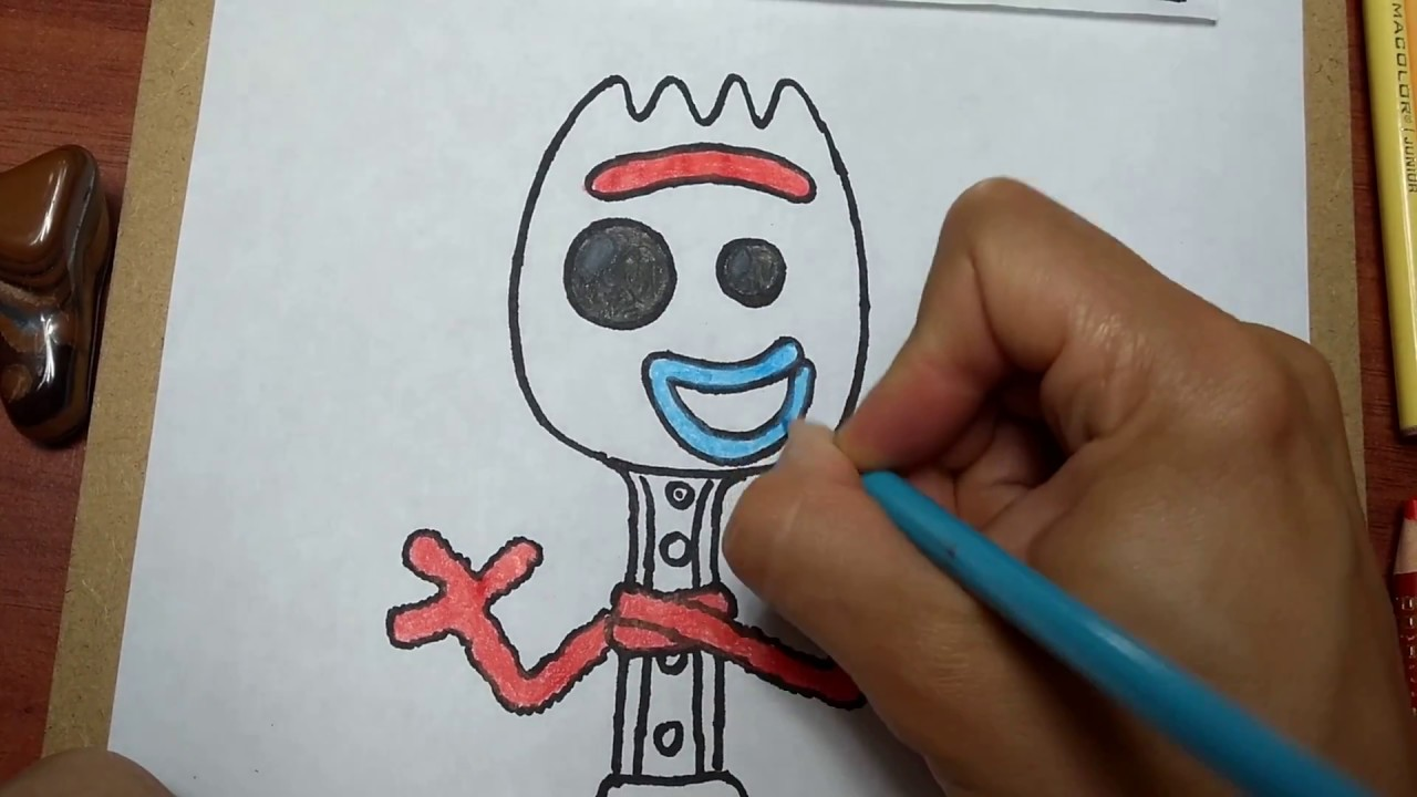 Cómo Dibujar Y Pintar A Forky Funko Pop De Toy Story 4how To Draw And Paint Forky