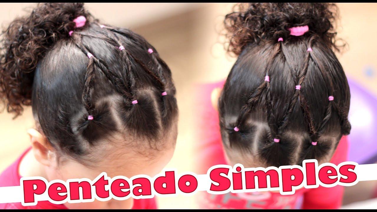 Penteado Infantil Simples Para Cabelos Cacheados 1 Cacheada éder E Pri