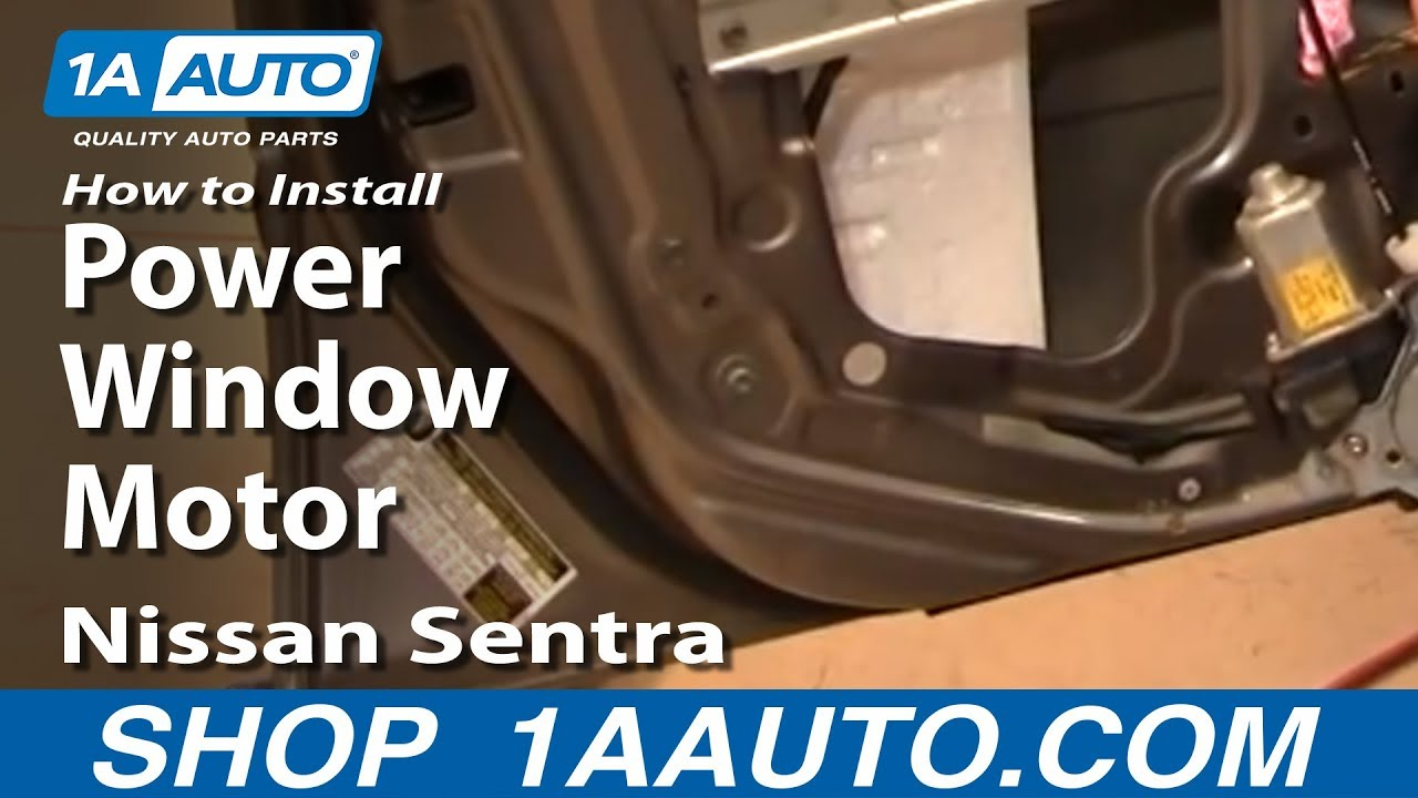 How To Install Replace Power Window Motor or Regulator Nissan Sentra 0006 1AAuto  YouTube