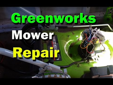 Greenworks Electric Lawn Mower Repair - Mower resets breaker does not start  - replace rectifier