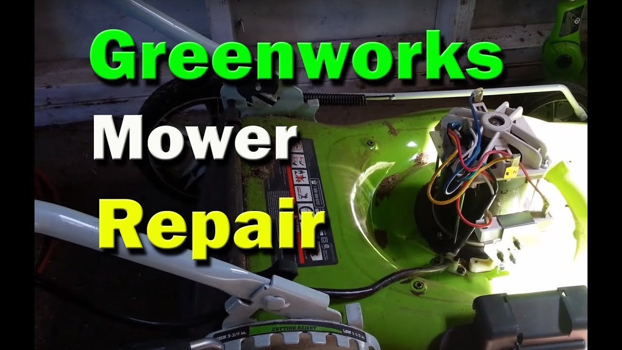 small resolution of greenworks electric lawn mower repair mower resets breaker does not start replace rectifier