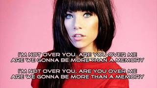 Carly Rae Jepsen - More Than A Memory (Audio) with Lyrics + Download