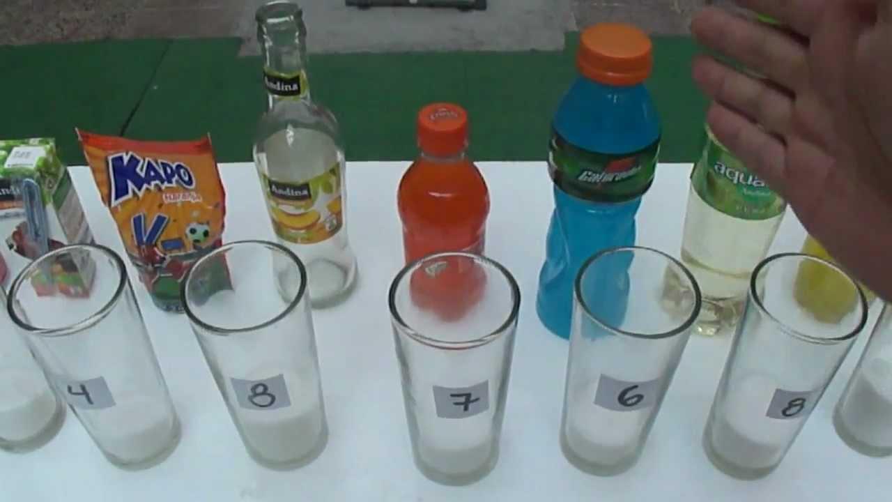 ¿Cuanta azúcar tienen las Bebidas y Jugos que tomamos