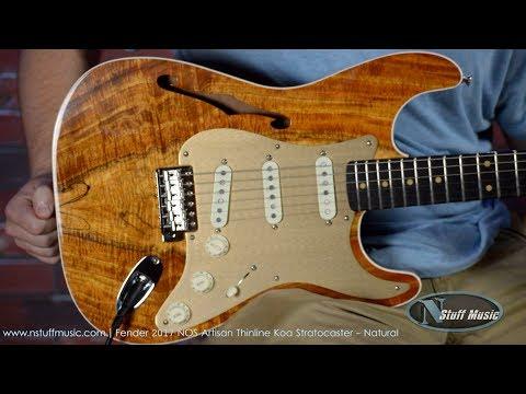 Fender 2017 NOS Artisan Thinline Koa Stratocaster