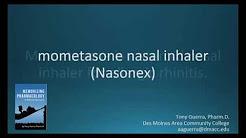 How to pronounce mometasone (Nasonex) (Memorizing Pharmacology Flashcard)