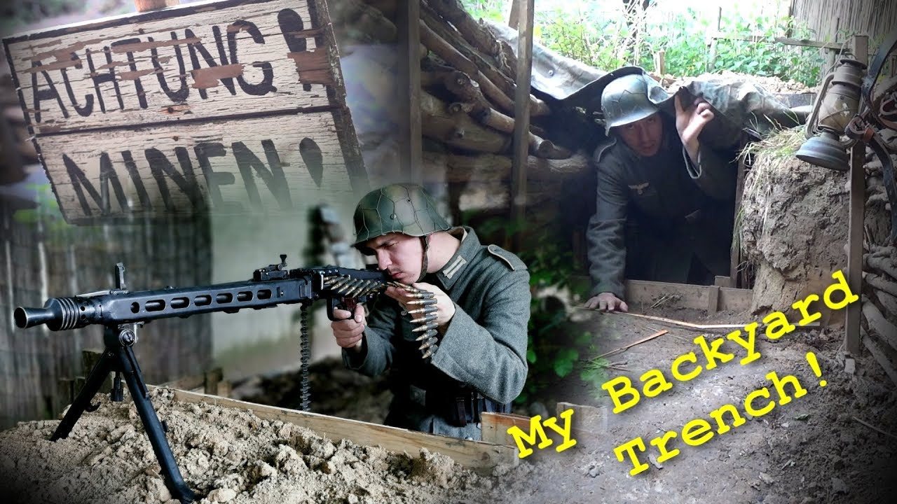 I have a WW2 TRENCH in my GARDEN! German Position / Trench Tour!