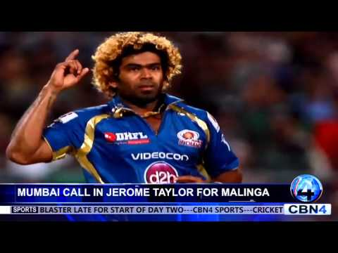 MUMBAI CALL IN JEROME TAYLOR FOR MALINGA