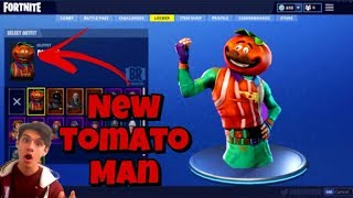 NEW FORTNITE SKINS LIVE! NEW Tomato Man Skin *Coming Soon*|355 Wins / Pro Builder| Sponsor Goal 0/2|