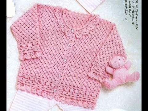 Crochet Patterns| for free |crochet baby sweater| 1548