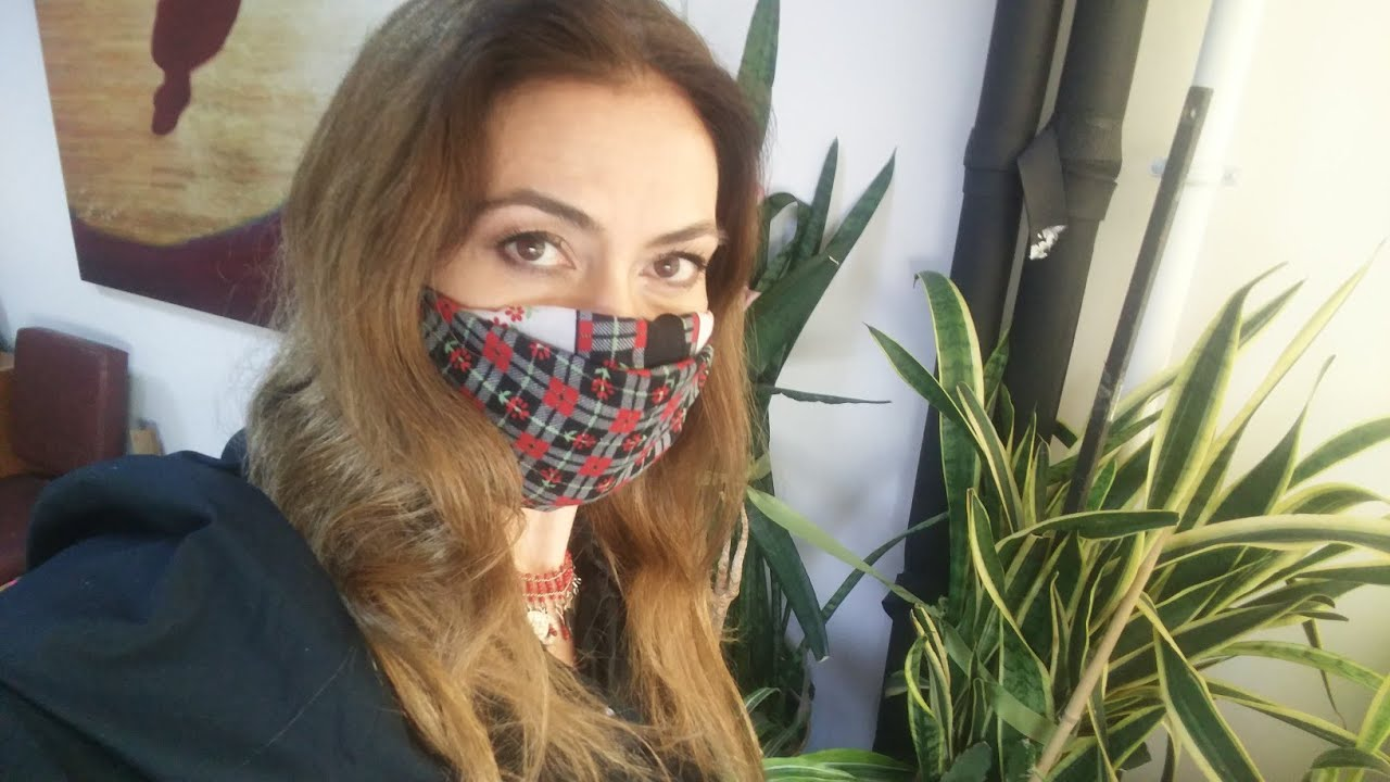 Korona Virüsü için pratik Maske. DIY FACE MASK
