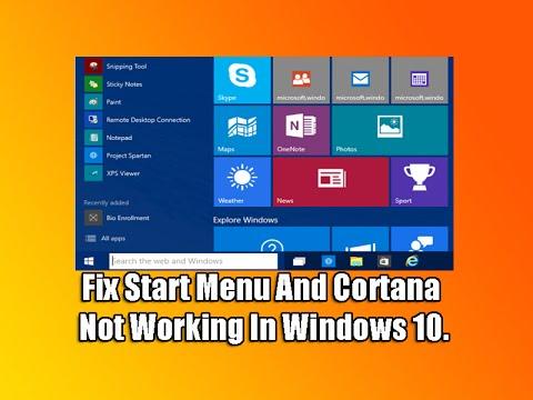 start cortana windows 10 not working